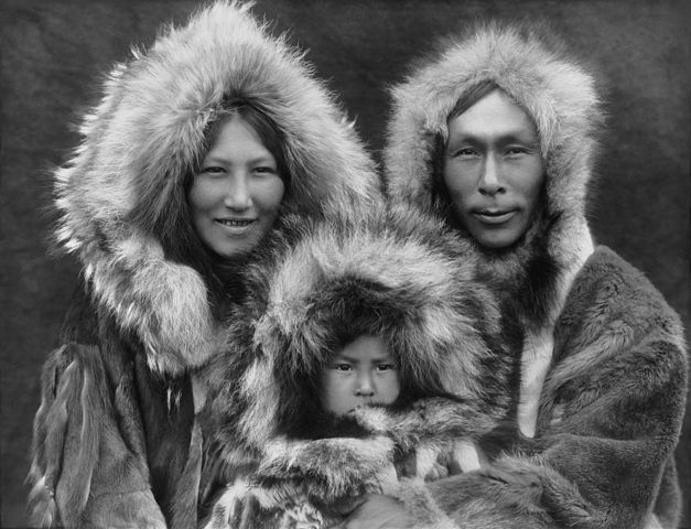 An Inupiat family from Noatak, Alaska, 1929. by Edward S. Curtis
