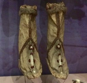 Yupik salmon skin boots from the Lower Yukon